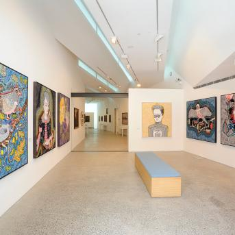 Del Kathryn Barton: The Nightingale and the Rose installation view 2012, Photograph: John Brash