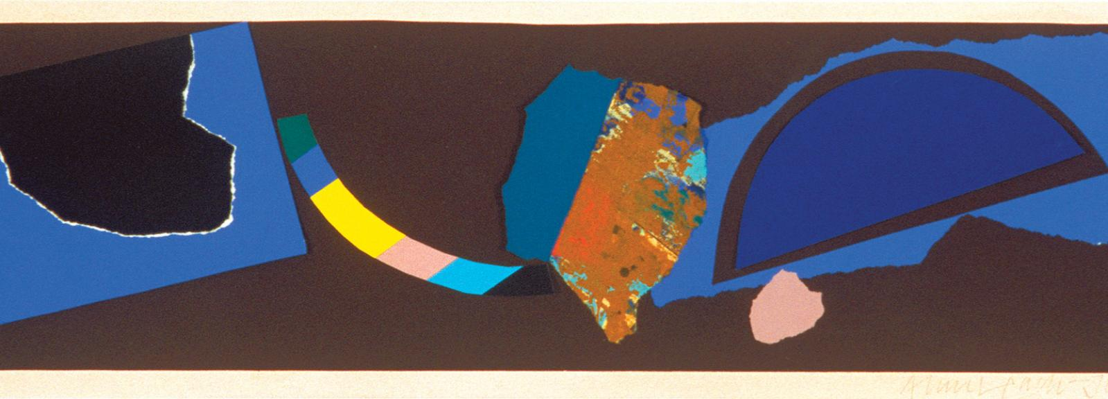 Collage c.1978, collage on paper, 16.5 x 64.8 cm, Bequest of John and Sunday Reed 1982, © the artist