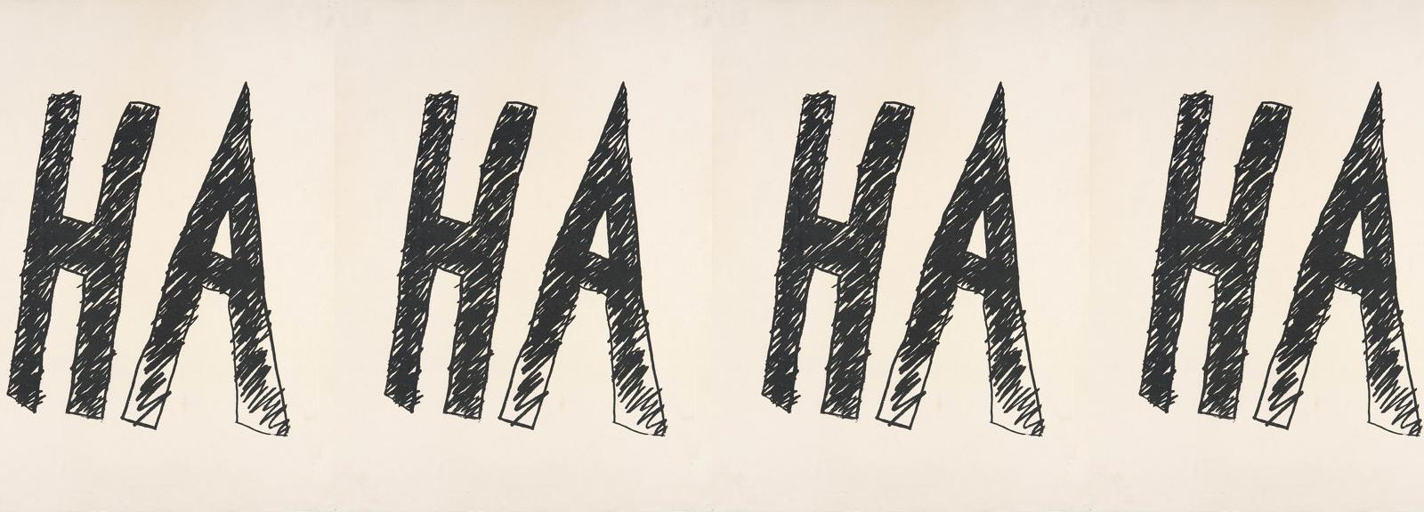 Aleks Danko, Poster for 'HA' 2006, screenprint on litho paper, ,, Museum of Contemporary Art, Gift of Julie Ewington, © the artist