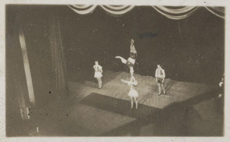 Albert Tucker, Tivoli (four of the Five Cleveres in The Naughty Nineties) 1940, exhibition print from original contact print, Albert Tucker Photograph Collection State Library of Victoria and Heide Museum of Modern Art, Melbourne, Gift of Barabara Tucker 2008