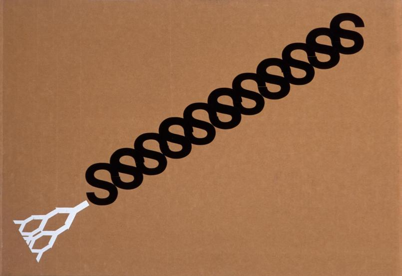 Alex Selenitsch, Rainbow snake 1988–89, vinyl on cardboard, 51.5 x 75.5 cm, Heide Museum of Modern Art, Melbourne, Bequest of Barrett Reid 2000, © Alex Selenitsch