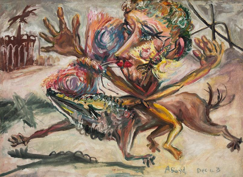 Arthur Boyd, Butterfly Man 1943, oil on muslin on cardboard, 55.5 x 75.5 cm, Heide Museum of Modern Art, Melbourne, Bequest of John and Sunday Reed 1982, © Bundanon Trust