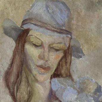 Moya Dyring, Sunday c.1934, oil on composition board, 36 x 26.7 cm, Heide Museum of Modern Art, Purchased from John and Sunday Reed 1980, © Estate of Judith Innes Irons