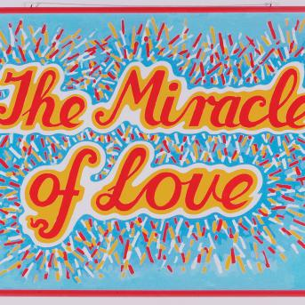 Mike Brown, Miracle of Love 1990, Synthetic polymer paint on canvas, 78 x 117 cm, Heide Museum of Modern Art, © Estate of Mike Brown