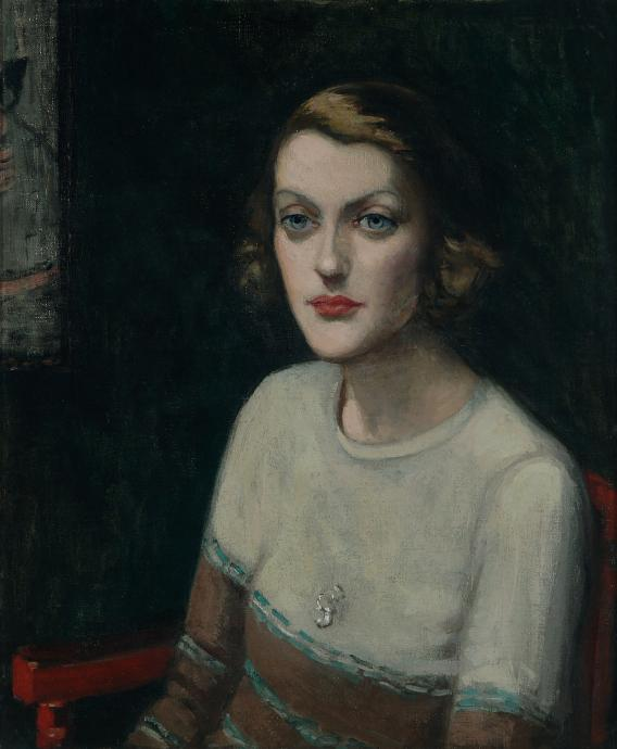 Agnes Goodsir, Portrait of Sunday Baillieu Quinn, Paris 1939, oil on canvas, 61 x 50.5 cm, Heide Museum of Modern Art, Gift of Dr Joseph Brown AO OBE through the Heide Foundation 2006