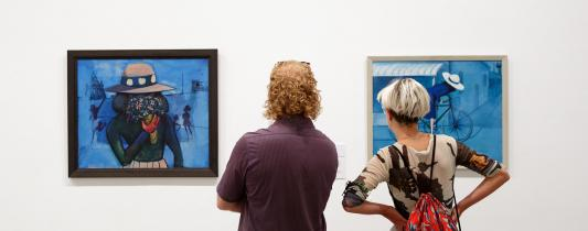Charles Blackman: Schoolgirls, installation view 2017, Heide Museum of Modern Art, Melbourne, Photograph: Christian Capurro
