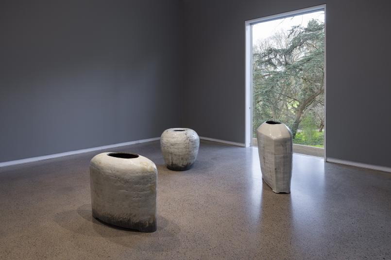 Installation view, An Idea Needing to Be Made: Contemporary Ceramics featuring works by Kang Hyo Lee, Heide Museum of Modern Art, Melbourne, Photograph: Christian Capurro