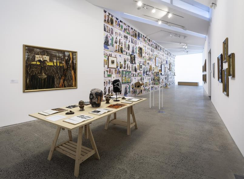 Installation view, Meditation on a Bone: Albert Tucker Beyond the Modern, Photograph: Christian Capurro