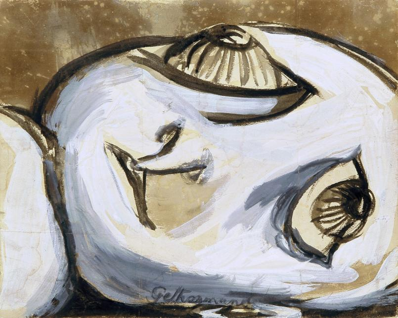 Joy Hester, c.1946, ink and gouache on paper, 25.3 x 31.2 cm, Heide Museum of Modern Art, Bequest of John and Sunday Reed 1982, Courtesy of the artist & Viscopy