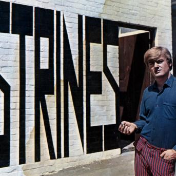 Sweeney at Strines Gallery, Carlton c. 1967, Photographer unknown, Heide Museum of Modern Art Archive, © Lansdowne Press