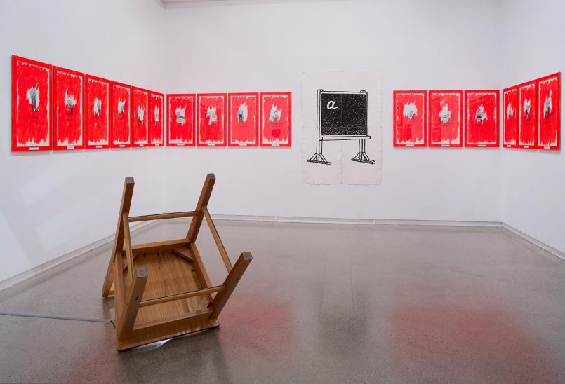 Alex Selenitsch: LIFE/TEXT installation view 2015, Photograph: Christian Capurro