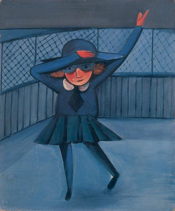 Charles Blackman, Girl Waving February 1953, enamel paint and tempera on composition board, 76 x 63 cm, Private Collection, Melbourne, © Charles Blackman