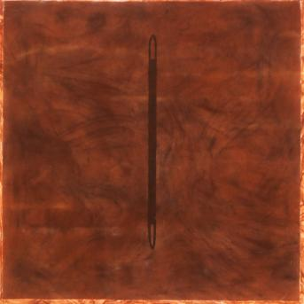 Denise Green, Needle 1977, oil on canvas, 152 x 152 cm, Heide Museum of Modern Art, Melbourne, Gift of Denise Green 2016
