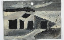 Sidney Nolan, Monochrome Abstract c.1942, enamel on metal roof tile, 15 x 23 cm, Heide Museum of Modern Art, Melbourne, Gift of Barrett Reid 1993, © Sidney Nolan Trust
