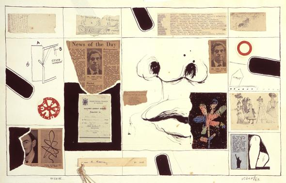 Robert Rooney, Material 1963, collage and ink on paper, 44 x 69.5 cm, Heide Museum of Modern Art, Gift of Robert Rooney 2001, Courtesy of the artist