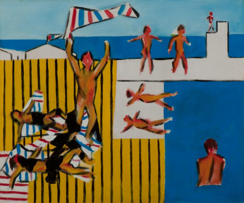 Sidney Nolan, Bathers 1943, ripolin enamel on canvas 62.9 x 75.5 cm Heide Museum of Modern Art Bequest of John and Sunday Reed 1982 © The Sidney Nolan Trust