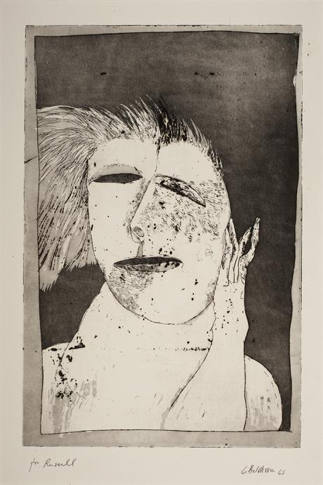 George Baldessin, Head 1965, etching and aquatint, 46 x 30.3 cm, Heide Museum of Modern Art, Gift of Russell Zeeng 1986, © Estate of George Baldessin
