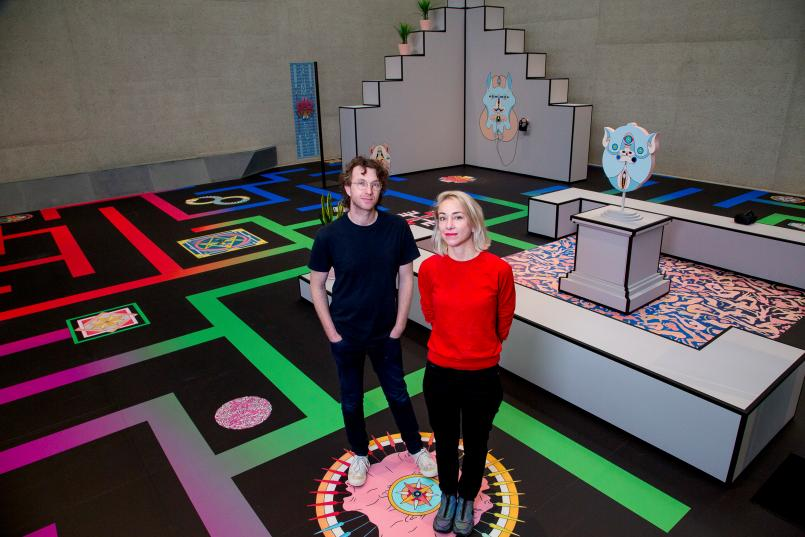 Jess Johnson and Simon Ward with their Balnaves Contemporary Intervention Terminus, Image courtesy of National Gallery of Australia
