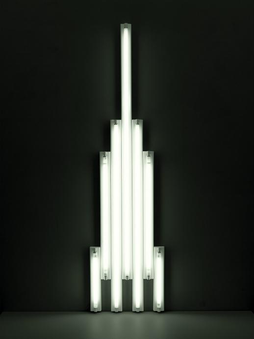 Dan Flavin, monument to V. Tatlin 1966-69, fluorescent tubes, 11.3 x 274.5 x 71 cm, National Gallery of Australia Canberra, Purchased 1978, © Dan Flavin/ARS. Licensed by Viscopy 2012