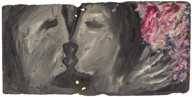 Sidney Nolan, (Lovers and flowers) January 1942, 25.5 x 50.8 cm, Collection of The University of Queensland, Purhcased with the assistance of the Alumni Association and the Peter Stuyvesant Cultural Foundation 1997, © The University of Queensland