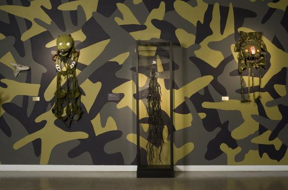 Fiona Hall: Big Game Hunting installation view 2013, Heide Museum of Modern Art Photograph: John Brash