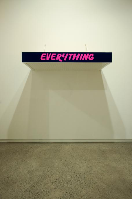 Callum Morton, Everything 2011, wood, synthetic polymer paint, enamel, steel, 80 x 20 x 180 cm, Courtesy of the artist and Roslyn Oxley9 Gallery, Sydney